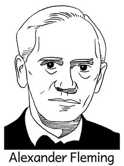 Portrait d'Alexander Fleming. Source : http://data.abuledu.org/URI/564e036c-portrait-d-alexander-fleming