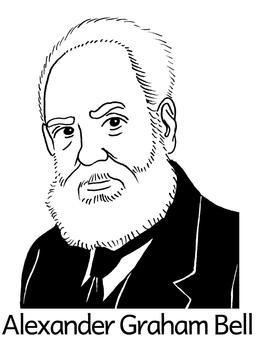 Portrait d'Alexander Graham Bell. Source : http://data.abuledu.org/URI/564e0448-portrait-d-alexander-graham-bell