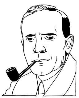 Portrait d'Edwin Powell Hubble. Source : http://data.abuledu.org/URI/55a2a38f-portrait-d-edwin-powell-hubble