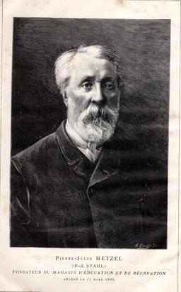 Portrait d'Hetzel en 1886. Source : http://data.abuledu.org/URI/565cb187-portrait-d-hetzel-en-1886