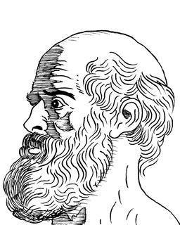 Portrait d'Hippocrate. Source : http://data.abuledu.org/URI/559f89ff-portrait-d-hippocrate