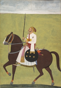 Portrait d'un chevalier perse autour de 1720. Source : http://data.abuledu.org/URI/53f46a0a-portrait-d-un-chevalier-perse-autour-de-1720