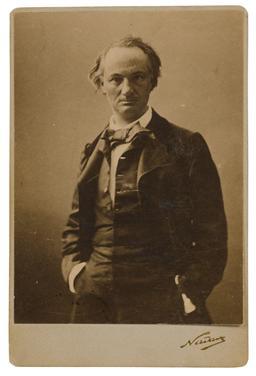 Portrait de Baudelaire par Nadar. Source : http://data.abuledu.org/URI/53ef236d-portrait-de-baudelaire-par-nadar
