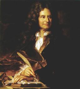 Portrait de Boileau à la plume d'oie. Source : http://data.abuledu.org/URI/519e708e-portrait-de-boileau-a-la-plume-d-oie
