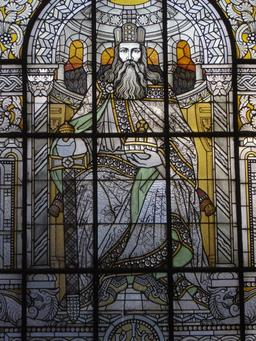 Portrait de Charlemagne. Source : http://data.abuledu.org/URI/54a860b6-portrait-de-charlemagne