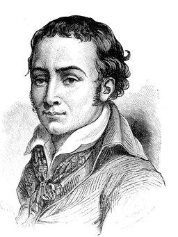 Portrait de Chénier. Source : http://data.abuledu.org/URI/51afaf73-portrait-de-chenier