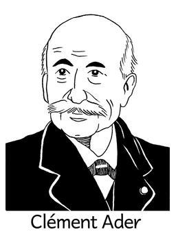 Portrait de Clément Ader. Source : http://data.abuledu.org/URI/564e0647-portrait-de-clement-ader