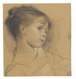 Portrait de fillette par Gustav Klimt en 1895. Source : http://data.abuledu.org/URI/59477e6a-portrait-de-fillette-par-gustav-klimt-en-1895