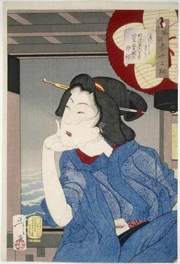 Portrait de Geisha de l'ère Meiji. Source : http://data.abuledu.org/URI/5277ff7c-portrait-de-geisha-de-l-ere-meiji