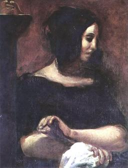 Portrait de George Sand. Source : http://data.abuledu.org/URI/51a4ffce-portrait-de-george-sand