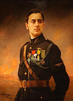 Portrait de Georges Guynemer. Source : http://data.abuledu.org/URI/538ebf49-portrait-de-georges-guynemer