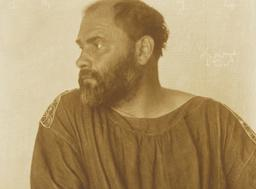 Portrait de Gustav Klimt en 1914. Source : http://data.abuledu.org/URI/59477c16-portrait-de-gustav-klimt-en-1914