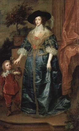 Portrait de Henriette Marie de France. Source : http://data.abuledu.org/URI/51df06d8-portrait-de-henriette-marie-de-france
