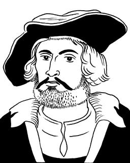 Portrait de Jacques Cartier. Source : http://data.abuledu.org/URI/55a2a54c-portrait-de-jacques-cartier