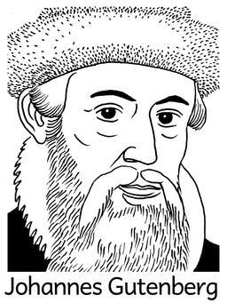 Portrait de Johannes Gutenberg. Source : http://data.abuledu.org/URI/564e524d-portrait-de-johannes-gutenberg