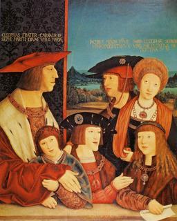 Portrait de l'empereur Maximilien et de sa famille. Source : http://data.abuledu.org/URI/53079fa8-portrait-de-l-empereur-maximilien-et-de-sa-famille