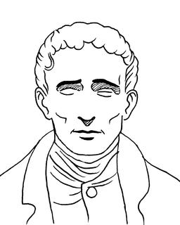 Portrait de Louis Braille. Source : http://data.abuledu.org/URI/559f9221-portrait-de-louis-braille