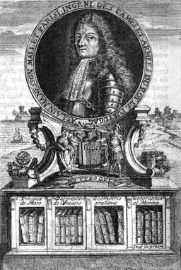 Portrait de Manesson-Mallet en 1702. Source : http://data.abuledu.org/URI/52a71a06-portrait-de-manesson-mallet-en-1702
