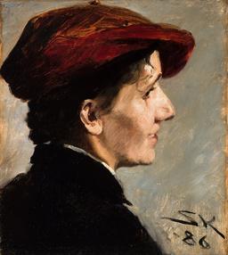Portrait de Marianne Stokes. Source : http://data.abuledu.org/URI/52bb4d0a-portrait-de-marianne-stokes