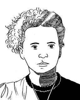 Portrait de Marie Curie. Source : http://data.abuledu.org/URI/559f94f3-portrait-de-marie-curie