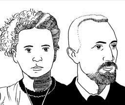 Portrait de Marie et Pierre Curie. Source : http://data.abuledu.org/URI/559f95ed-portrait-de-marie-et-pierre-curie