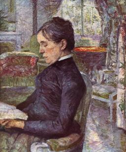 Portrait de Mme Lautrec dans le salon de Malromé. Source : http://data.abuledu.org/URI/528d6781-portrait-de-mme-lautrec-dans-le-salon-de-malrome