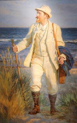Portrait de Peder Severin Krøyer. Source : http://data.abuledu.org/URI/52bb1c2c-portrait-de-peder-severin-kr-yer