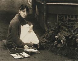 Portrait de peintre en 1918. Source : http://data.abuledu.org/URI/585f5d99-portrait-de-peintre-en-1918