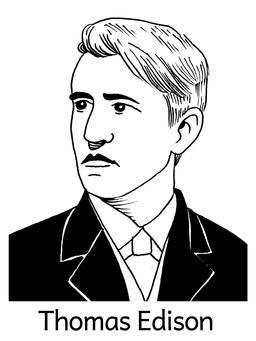 Portrait de Thomas Edison. Source : http://data.abuledu.org/URI/564e5640-portrait-de-thomas-edison