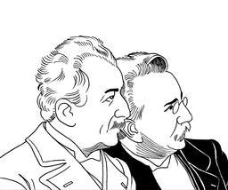 Portrait des frères Lumière. Source : http://data.abuledu.org/URI/559f6772-portrait-des-freres-lumiere