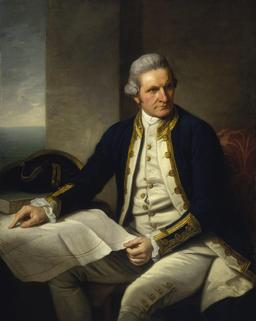 Portrait du capitaine Cook. Source : http://data.abuledu.org/URI/565715f5-portrait-du-capitaine-cook