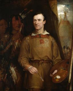 Portrait du peintre américain George Catlin. Source : http://data.abuledu.org/URI/53568185-portrait-du-peintre-americain-george-catlin