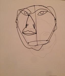 Portrait en fil de fer par Calder. Source : http://data.abuledu.org/URI/541e950b-portrait-en-fil-de-fer-par-calder