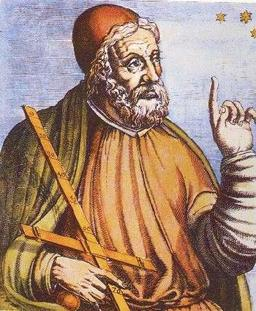 Portrait médiéval de Claude Ptolémée. Source : http://data.abuledu.org/URI/5068be62-portrait-medieval-de-claude-ptolemee