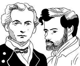 Portraits d'A. Denayrouze et B. Rouquayrol. Source : http://data.abuledu.org/URI/559f6669-portraits-d-a-denayrouze-et-b-rouquayrol