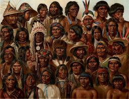 Portraits d'amérindiens en 1904. Source : http://data.abuledu.org/URI/53562539-portraits-d-amerindiens-en-1904
