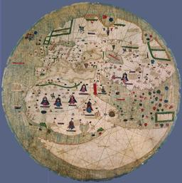 Portulan catalan du XVème siècle. Source : http://data.abuledu.org/URI/50884f10-portulan-catalan-du-xveme-siecle