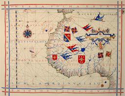 Portulan de la côte africaine. Source : http://data.abuledu.org/URI/50e6feca-portulan-de-la-cote-africaine