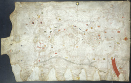 Portulan du XIVème siècle. Source : http://data.abuledu.org/URI/55474624-portulan-du-xiveme-siecle