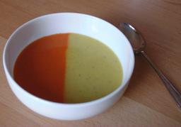 Potage bicolore. Source : http://data.abuledu.org/URI/50a5016b-potage-bicole