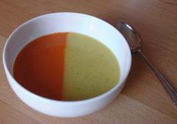 Potage bicolore. Source : http://data.abuledu.org/URI/50a5016b-potage-bicole