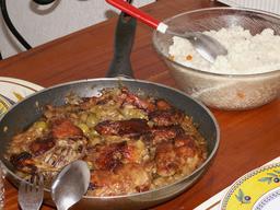 Poulet yassa sénégalais. Source : http://data.abuledu.org/URI/52e54e24-poulet-yassa-senegalais