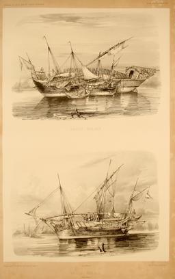 Praos malais dans l'île de Java. Source : http://data.abuledu.org/URI/59817206-praos-malais-dans-l-ile-de-java