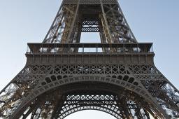 Premier étage de la Tour Eiffel vu du Champ de Mars. Source : http://data.abuledu.org/URI/53e332e1-premier-etage-de-la-tour-eiffel-vu-du-champ-de-mars