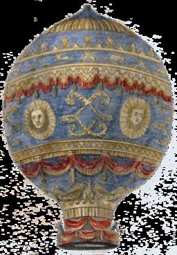 Première montgolfière. Source : http://data.abuledu.org/URI/53bd3b3c-premiere-montgolfiere