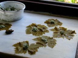Préparation de dolma en Grèce. Source : http://data.abuledu.org/URI/548f3a04-preparation-de-dolma-en-grece