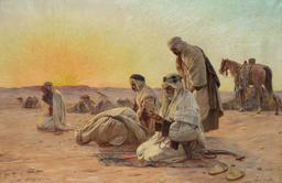 Prières du matin dans le désert. Source : http://data.abuledu.org/URI/58f3d88d-prieres-du-matin-dans-le-desert