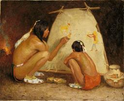 Professeur de peinture indien. Source : http://data.abuledu.org/URI/5336f70d-professeur-de-peinture-indien