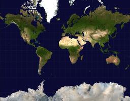 Projection de Mercator. Source : http://data.abuledu.org/URI/5096aa68-projection-de-mercator