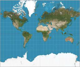 Projection de Mercator. Source : http://data.abuledu.org/URI/531f2fb8-projection-de-mercator